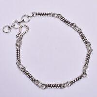 925 Solid Sterling Silver Bracelet, Designer Handcrafted Fine Jewelry Gift FBR32