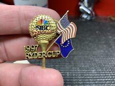 "1997 Ryder Cup ""NBC Sports"" Gorgeous Design Rare Vintage Press Pin."