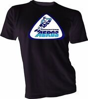 HOUSTON AEROS DEFUNCT WHA HOCKEY VINTAGE STYLE Black T-SHIRT Handmade New