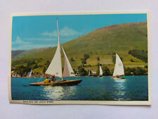 Loch Earn Vintage colour Postcard c1970s Sailing