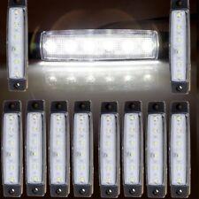10X 12V White 6LED Front/Rear Side Marker Indicators Light For Car Truck Trailer