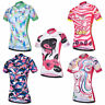 Ladies Cycling Jersey Short Sleeve Women's Bike Cycle Jersey Top Reflective