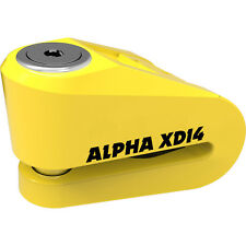 Oxford Alpha XD14 Yellow Stainless Disc Lock 14 mm Pin Bike Motorbike Motorcycle