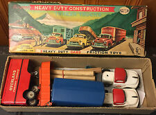 Cragstan S.S.S Heavy Duty Construction Trailer Trucks Tin Toys, S-3001, Friction