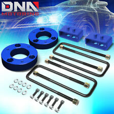 """FOR 2004-2017 FORD F-150 4WD BLUE 2""""F/2""""R LEVELING LIFT KIT STRUT SPACER+BLOCK"""