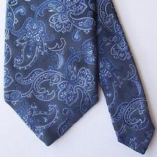 Robert Talbott Best of Class Navy Blue White Paisley Damask Tie 100% Silk USA