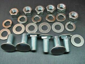 """6 pcs bumper bolts nuts lock flat washers stainless capped bolt 3/8-16 x 1"""""""