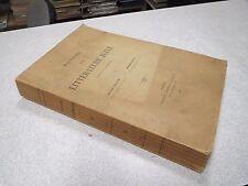 HISTOIRE DE LA LITTERATURE JUIVE D APRES G KARPELES ISAAC BLOCH EMILE LEVY 1901*
