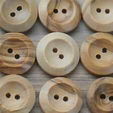 5 UNICORN SHAPED 2 HOLED WOODEN BUTTONS 35mm x 25mm ALL WHITE