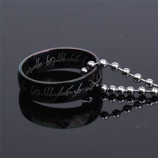 Lord of the Rings The One Ring Lotr Stainless Steel Men's Ring Chain Necklace