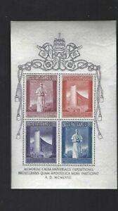 Vatican sc#242a (1958) Souvenir Sheet MNH