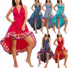 Vestito donna abito asimmetrico gipsy Ibiza etnico boho chic TOOCOOL RK-102