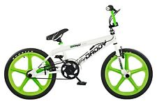 "Rooster Big Daddy Kids 20"" Skyway Mag Wheels BMX Bike Gyro White Green RS42"