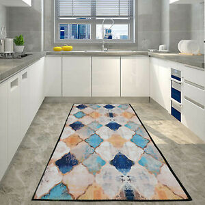 Modern Non Slip Area Rugs Long Hallway Runner Bedroom Rugs Kitchen Carpet Floor