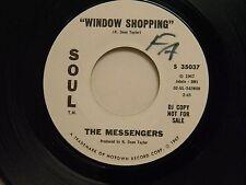 The Messengers 45 WINDOW SHOPPING / same song ~ Soul VG+ dj