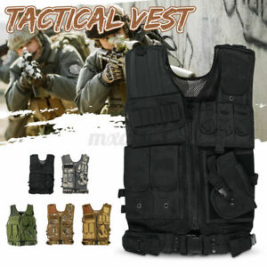 Military Tactical Vest Adjustable Molle Combat Plate Holder Army Airsoft