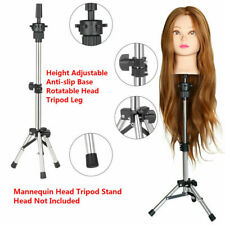23in Salon Hair Styling Training Head With Adjustable Height Tripod Stand Sliver