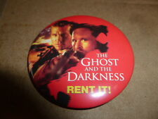 """Ghost And The Darkness Pin Back Video Movie Button Kilmer Rent It From 1998 2"""""""