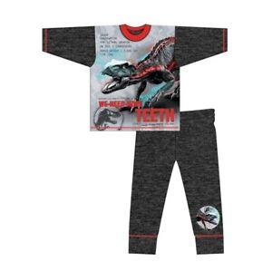 Boys Jurassic World Pyjamas T-Rex Kids Nightwear Long Sleeve PJs 4 to 10 Years