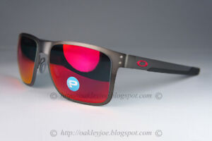 Oakley HOLBROOK METAL POLARIZED Sunglasses OO4123-0555 Gunmetal W/Torch Iridium