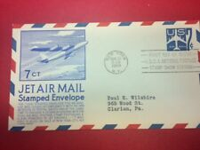 #UC33 FDC 1958 Anderson 7c L91 Blue Jet Air Mail - BLUE
