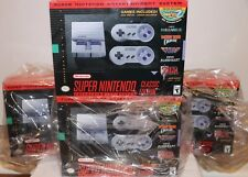 (NEW SEALED) OFFICIAL SUPER NINTENDO SNES CLASSIC EDITION GAME SYSTEM RETRO