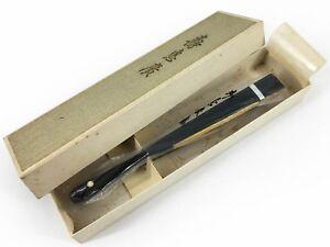 Vintage Japanese Small Gold & Silver Ceremonial Sensu Fan Original Box Nov18-O