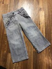 *Janie And Jack*Gray Denim Jeans Adjustable Waist Girls SZ: 2T~EUC~