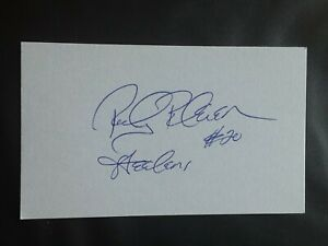 ROCKY BLEIER PITTSBURGH STEELERS RB SIGNED AUTOGRAPHED INDEX CARD 3X5