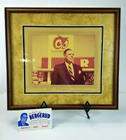 Vintage RED OWL STORES President & Politician ALF BERGERUD Photo Signed to Son