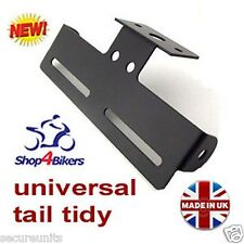 Motorcycle motorbike black universal tail tidy holder fit standard number plate