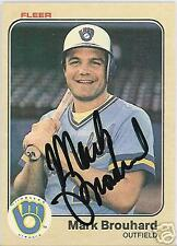 MARK BROSSARD MILWAUKEE BREWERS 1983 FLEER AUTOGRAPHED BASEBALL CARD PSA/DNA