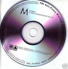 MAROON 5 Won't Go Home Without you TST PRESS PROMO DJ CD single USA MINT