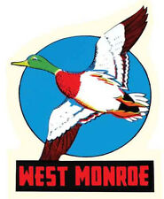 West Monroe, LA    Louisiana    Vintage-Style Travel Decal        -Duck Dynasty-