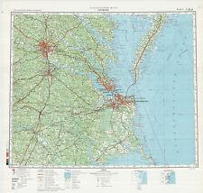 Russian Soviet Military Topographic Maps  - state VIRGINIA  (USA), 1:500 000