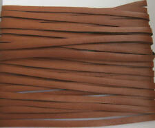 5 Metres x 3mm Mid Tan Colour Flat Leather Craft Lace / Thonging