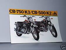 1973 Honda CB750 K3 / CB500 K2 Motorcycle Sales Brochure / Literature