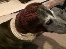 Greyhound Dog Brown/Beige Snood 2 Cover Neck **100% Donation 2 Cure K9 Cancer