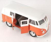 BLITZ VERSAND VW Bus Classical 1962 Samba T1 orange Welly Modell Auto 1:34 NEU