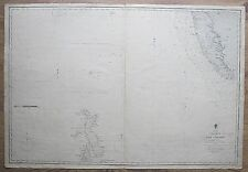 More details for india west cochin to cape comorin maldives antique admiralty chart map 1885