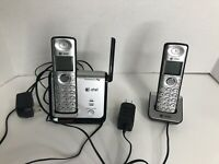 AT&T 2 Handset Cordless  DECT 6.0 Model CL81209 Tested & Working