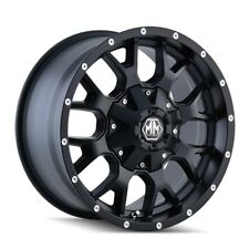 "20"" Mayhem Warrior 8015 Black Wheel 20x9 6x135 6x5.5 0mm Ford F150 GMC 6 Lug Rim"