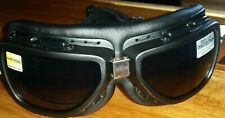 Bobster INTERCHANGEABLE MOTORCYCLE RIDING GOGGLES Anti fog Smoked & Clear Lenses