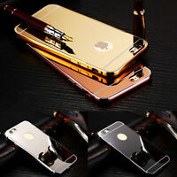 Luxury Aluminium Ultra-thin Mirror Metal Case Cover for Apple iPhone