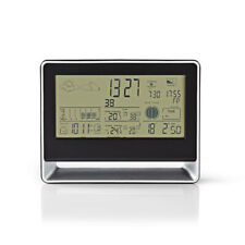 Nedis Weather Station Wireless sensor Alarm clock Weather Forecast - West405BK