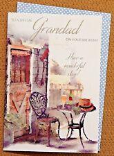 Tarjeta De Cumpleaños Especial Abuelo ~ relájese Mesa y Silla, jardinería, al aire libre diseño