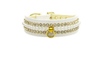 Mirage Pet Products Mini Pearl Pet Collar Size 14 White