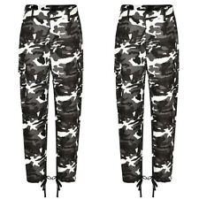 Womens Camo Cargo Trousers Pants Military Army Combat Camouflage Jeans Plus Size