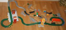 Huge Lot Fisher Price GeoTrax Train Tracks & Accessories 63 pc train Station Toy