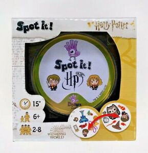 Harry Potter Spot It game of observation and quick reflexes 2-8 players ages 6 a